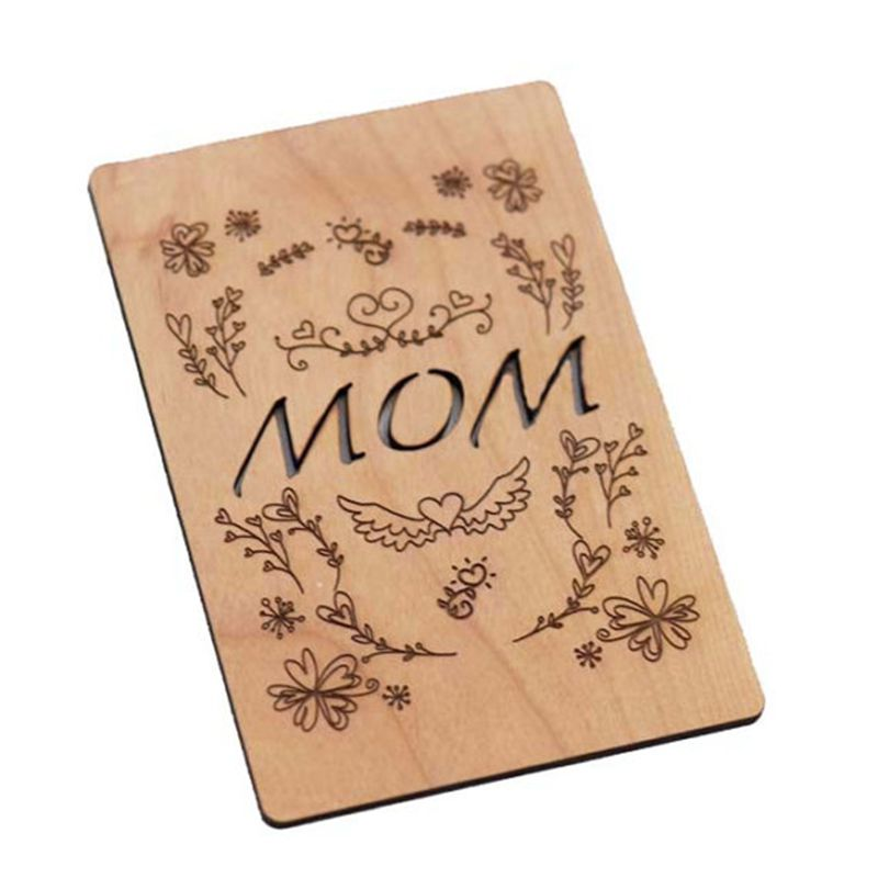 Laser Cut Wood Business Card Morthday