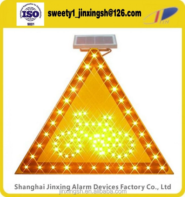 Traffic led solar warning flashing ,trangile solar reflective traffic signal