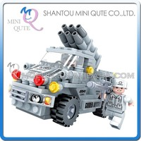 Mini Qute DIY military army guided missile truck action figures plastic cube building blocks bricks educational toy NO.22401