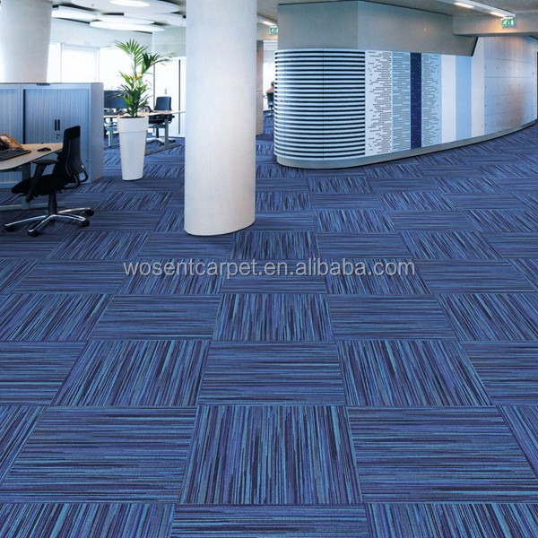 Carpet Tile Public Office Blue