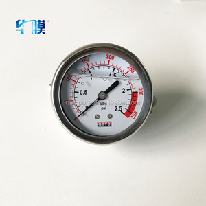 Accurate stainless steel Air / oil Pressure Gauge price 0.6mpa