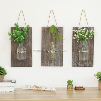 Blown Glass Hanging Vase Hydroponic Terrarium Succulents Flower