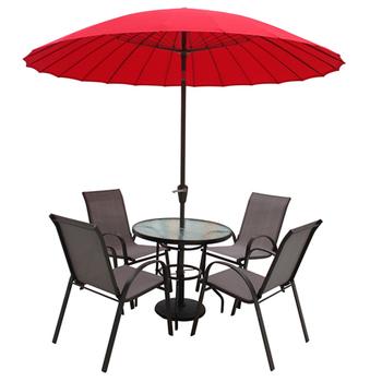 Leisure Waterproof Garden Cafe Outdoor Patio Umbrella With Steel