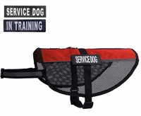 "Mesh Reflective Service Dog Harness Cool Comfort Vest with Removable ""SERVICE DOG"" or ""IN TRAINING"" Patches"
