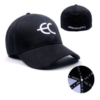 Custom Stretch Fit Hats, 3d Embroidered Fitted Baseball Cap