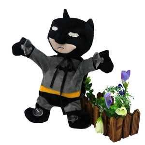 Super hero custom electric music moving plush toy decoration toys