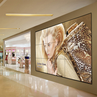 "Factory price 700nits 4k 55"" big screen video wall display for tourist attractions station"