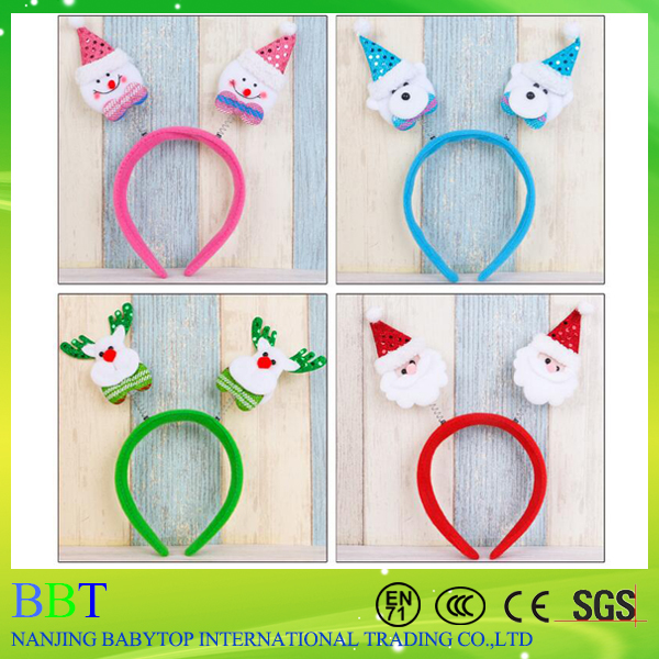 LED Lighting Unique Santa Claus flashing toy christmas headband christmas decor headbands