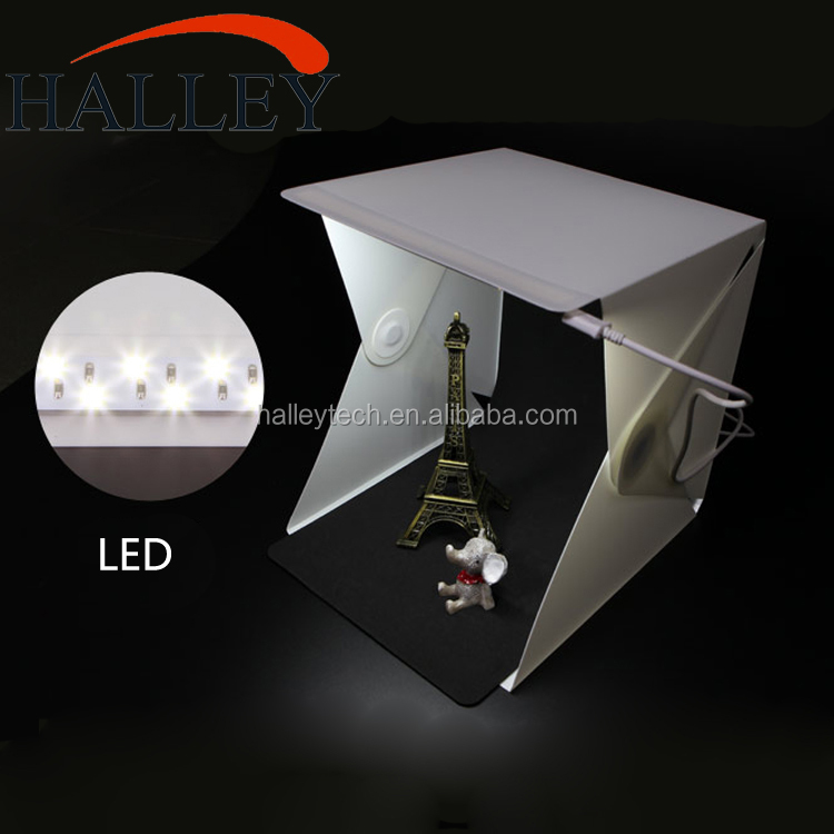 22.6 * 23 * 24cm Photography Equipment Softbox Kit Led Light Portable Mini Photo Studio