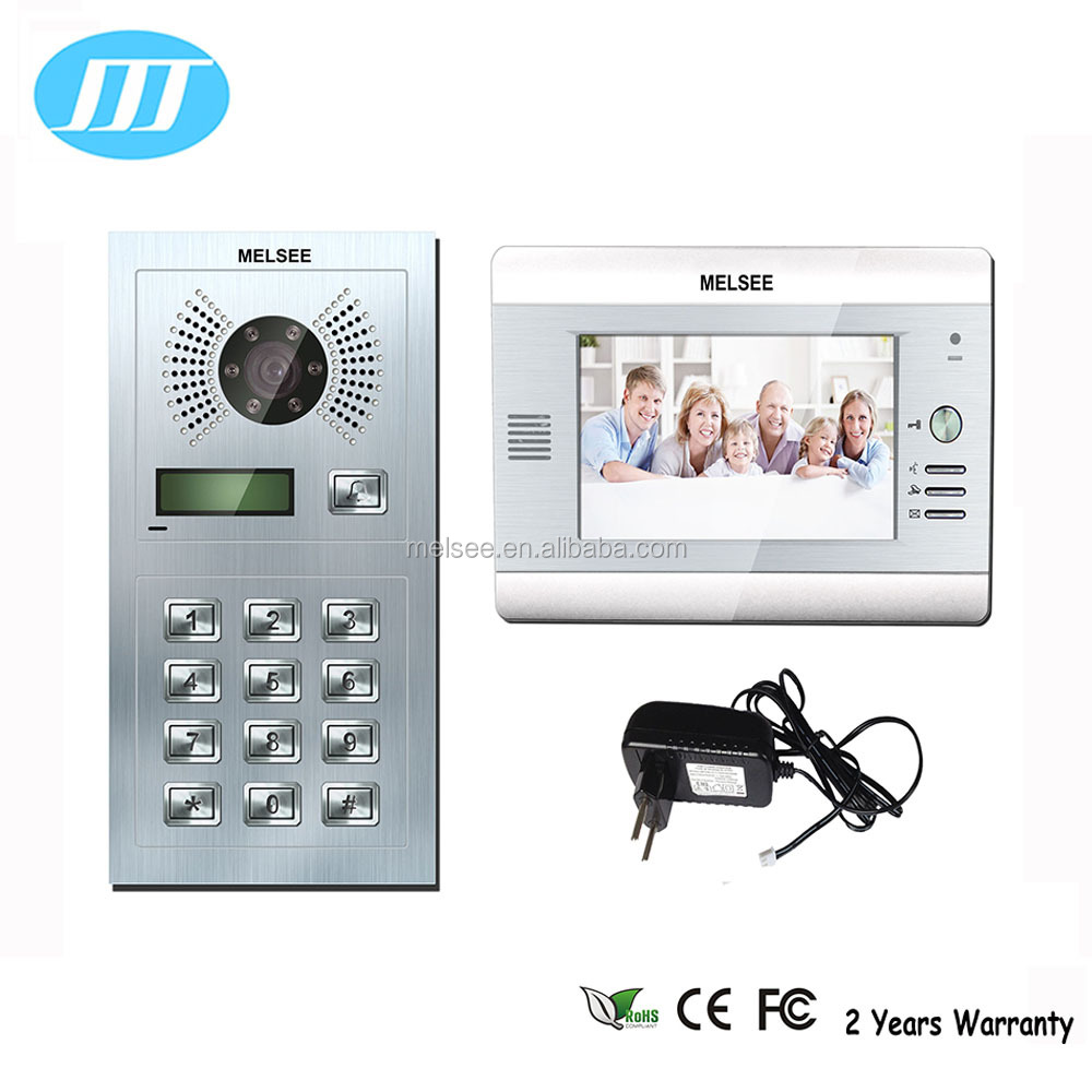 Villa 2 wire/4 wire video intercom security system hand free video door phone