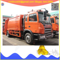 China garbage truck company direct sale for HFC1166K1R1ZF JAC gallop LHD 6 wheels street cleaning vehicle 10cbm sale in uae