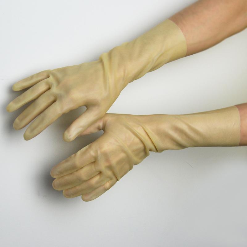 Transparent latex gloves