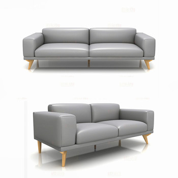 Top Grain Cow Leather Sofa Sets Artistic Sectional Furniture Ssolid Wood Legs