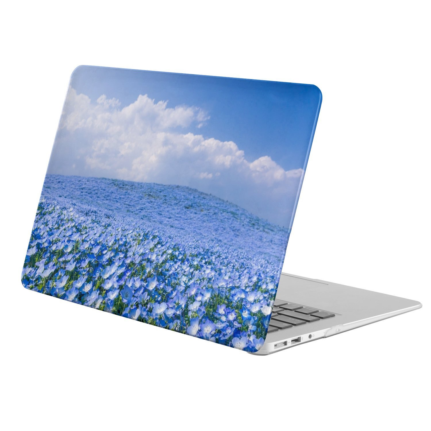 """PatternCover - Apple Old Macbook Pro 15.4-inch 15.4"""" with retina display (model: A1398) - full body hard case - Earth Flower Flowers Nature Field Blue Flower Sky Cloud"""