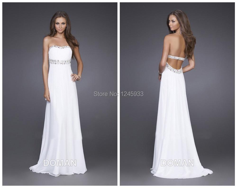 Compra Beige Vestidos De Dama De Honor Online Al Por Mayor: Compra Largos Vestidos Formales Blancos Para Juniors