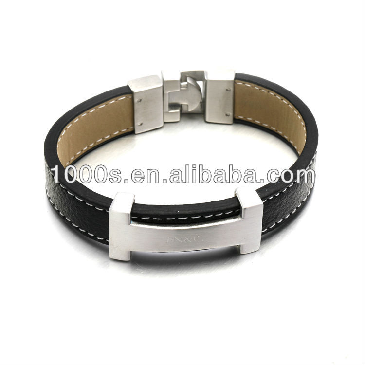 leather bracelet china wholesale with magnetic clasp