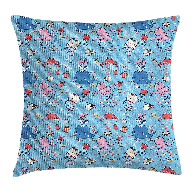 ae4da352b97a Buy Pillow Case Colours Mermaid Octopus Jellyfish Cushion Cover ...