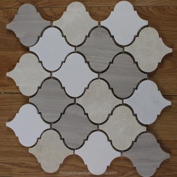 naturstein arabesque laterne mosaik fliesen f r wand holz grau crema marfil buy product on. Black Bedroom Furniture Sets. Home Design Ideas