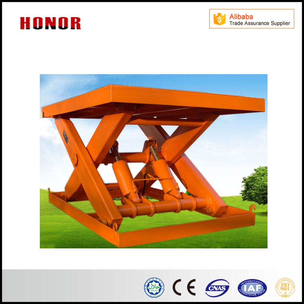 China Hydraulic Stationary And Stationary Scissor Lifting Platform