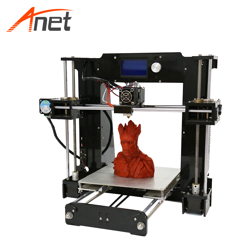 Factory supply anet a6 3d printer grote maat prusa i3 3d printer kit