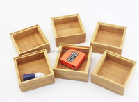 wood stackable desk organizer
