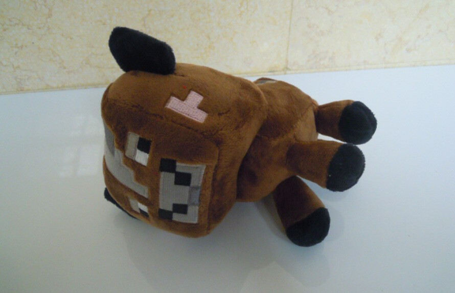 16cm New Minecraft Plush Toys High Quality Minecraft Brown
