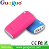 New products 2017 10400mah external battery charger dual usb mobile power bank with led light