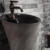 Fashion and antique style sanitary ware black inside and colorful outside pedestal sink ceramic indoor pedestal washing basin