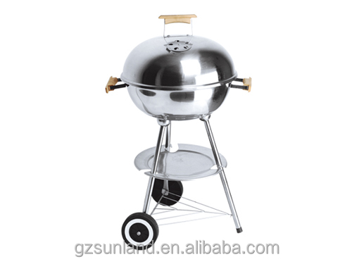 stainless steel kettle bbq grill