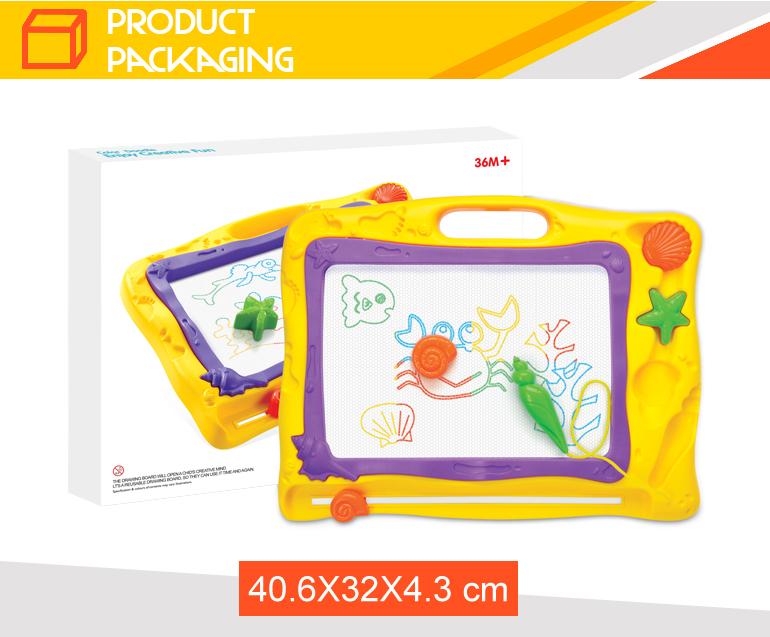 מאוד לשימוש חוזר ציור לילדים 3d עט מחיק מגנטי לוח ציור קסם-צעצועי ציור LO-38