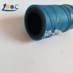 "98108809 3/4"" x 100' Industrial Rubber Water Hose Assembly with Male x Female Garden Hose Thread Fittings"