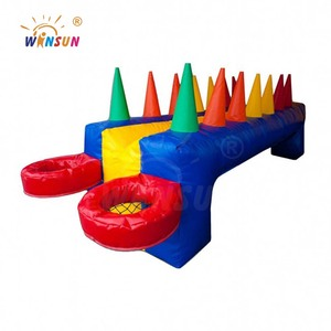 Air Juggler Team Building Game inflatable air flow race, air floating ball games, battling ball for sale