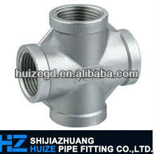 stainless steel 4-way cross pipe fitting cross joint pipe fitting