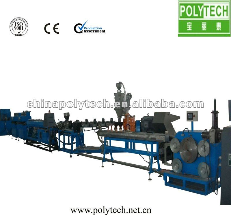 LDPE Inlaid Continue Strip Type Drip Irrigation Pipe Extrusion Line/Machine
