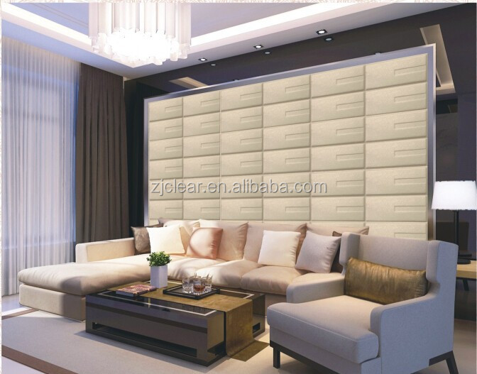 Artistic 3D PU leather panel,3d faux leather tiles