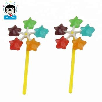 étoile Forme De Moulin à Vent Sucette Jouet De Dessin Animé Bonbons Bâton Coloré Fruité Sucette Bonbons Durs Buy Bonbons à La Sucette Bonbons à La