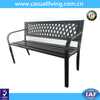 Outdoor Patio Garden Backyard Steel Leisure Benches with PVC Backrest