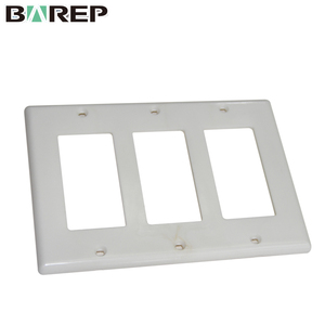 YGC-008 Blank plastic electrical decorative coaxial wall plate