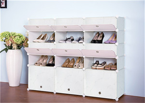 Home designs modular cube storage system closed shoe rack