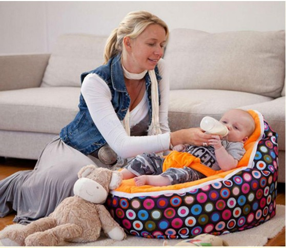 2016 Hot Sell Cheap Baby Bean Bag Children Sofa Chair Cover Soft Snuggle Bed /baby lazy bag Without Fillings
