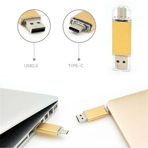 Electronic Gadgets usb disk 2018 Wholesale Usb 3.1 Type C Flash Drive with TF Card Slot