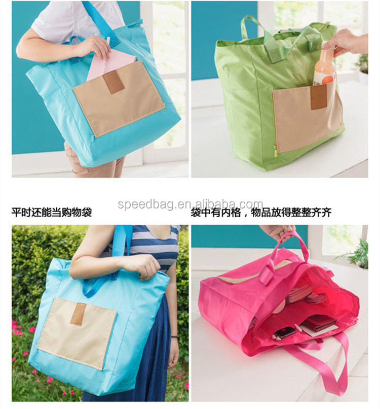 Hot selling large-capacity polyester super-light folding travel bag quick-drying skin backpack travel packages backpack