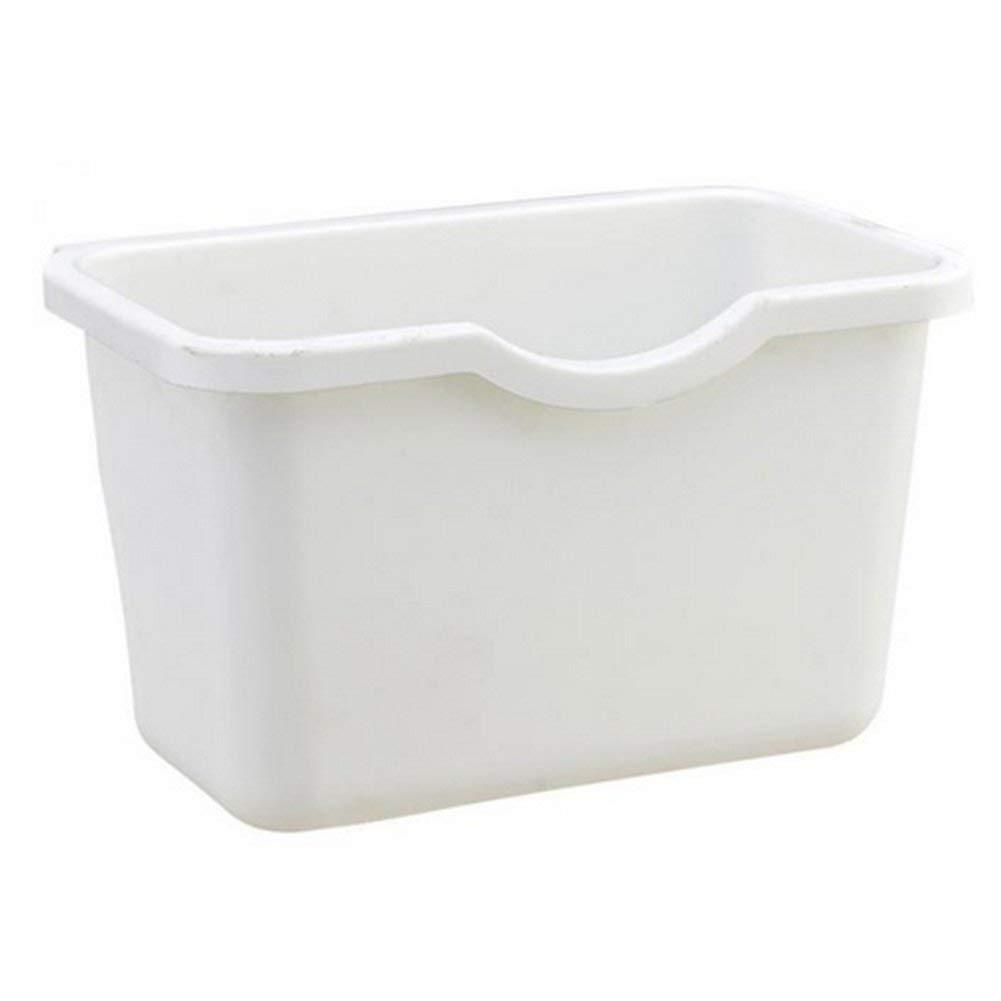 Auphi Plastic Basket Wastebaskets Hanging Trash Can Hanging Kitchen Waste Container(white)