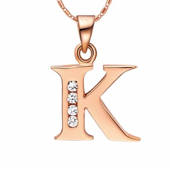 Simple fashion letter k r pendant design necklace jewelry