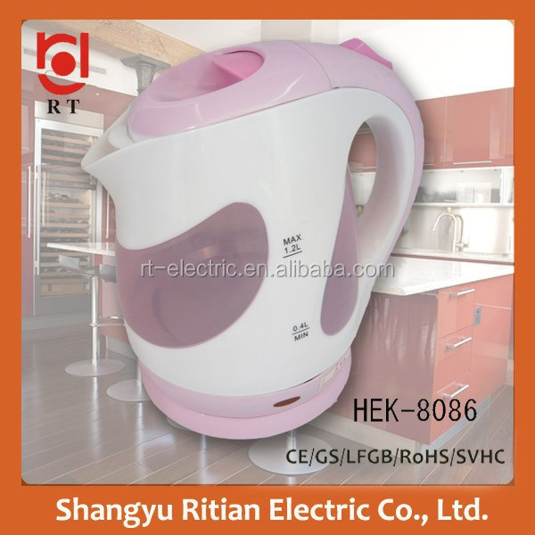 360 Degrees rotating base small size electric kettle HEK-8086