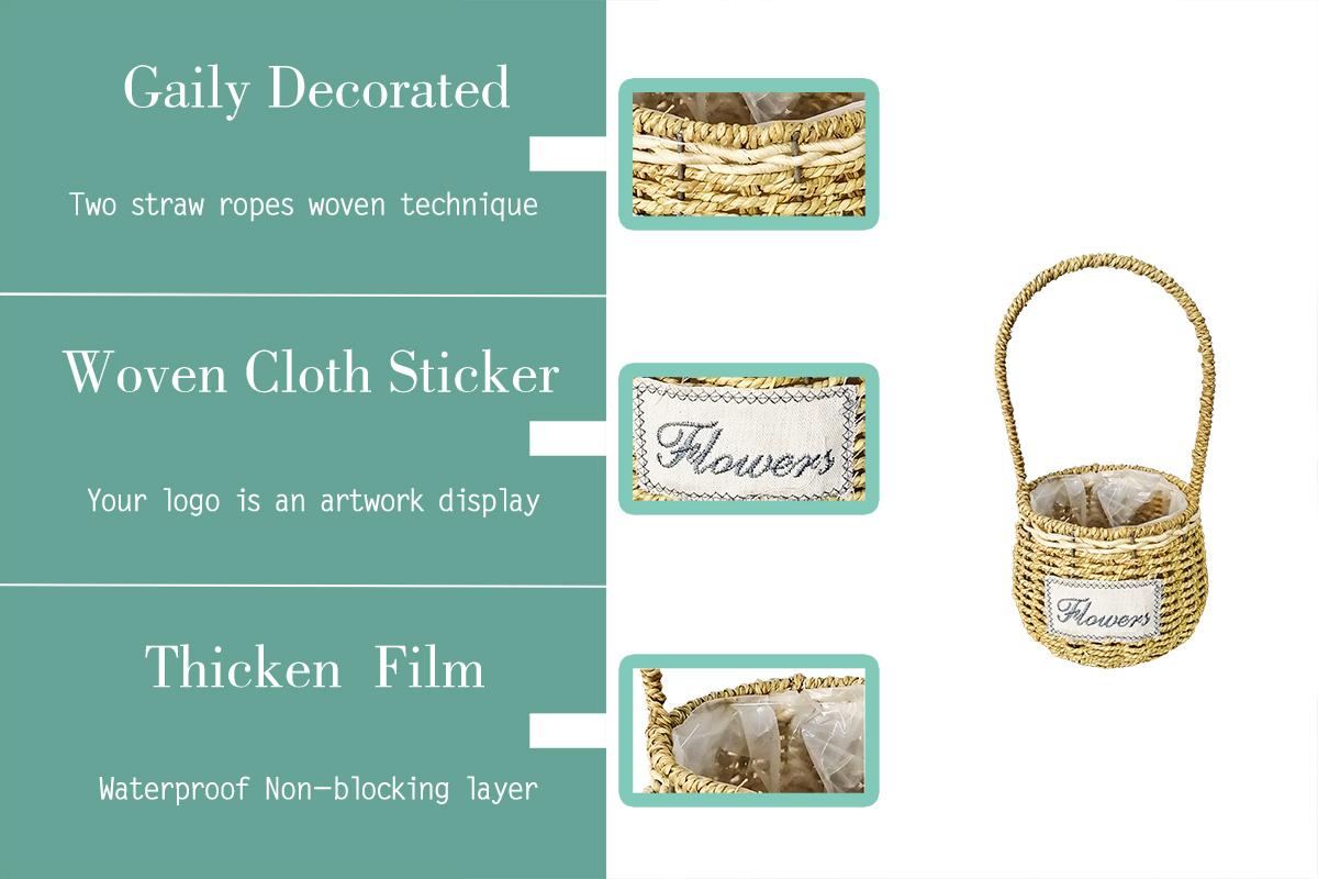 Hot Sale Round Shape Hanging Flower Metal Wire Grass Baskets For Home Decoration Gift Hamper Gift Basket