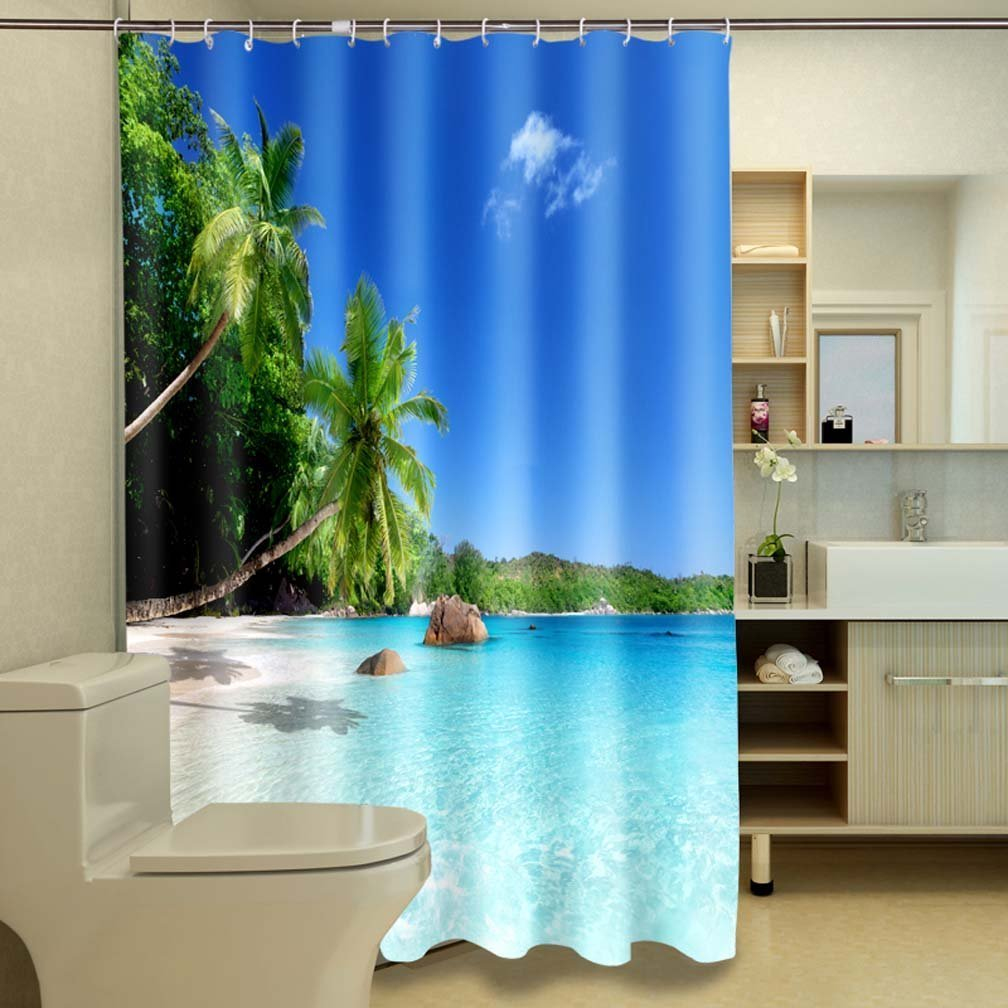 ideas curtains themed curtain home shower beach