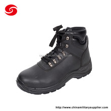 High quality army steel toe black safety shoes for workers