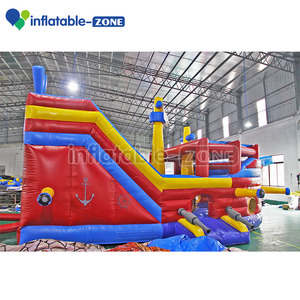 Customized inflate fun city best selling giant outdoor used corsair kids and adults inflatable dry slide prices