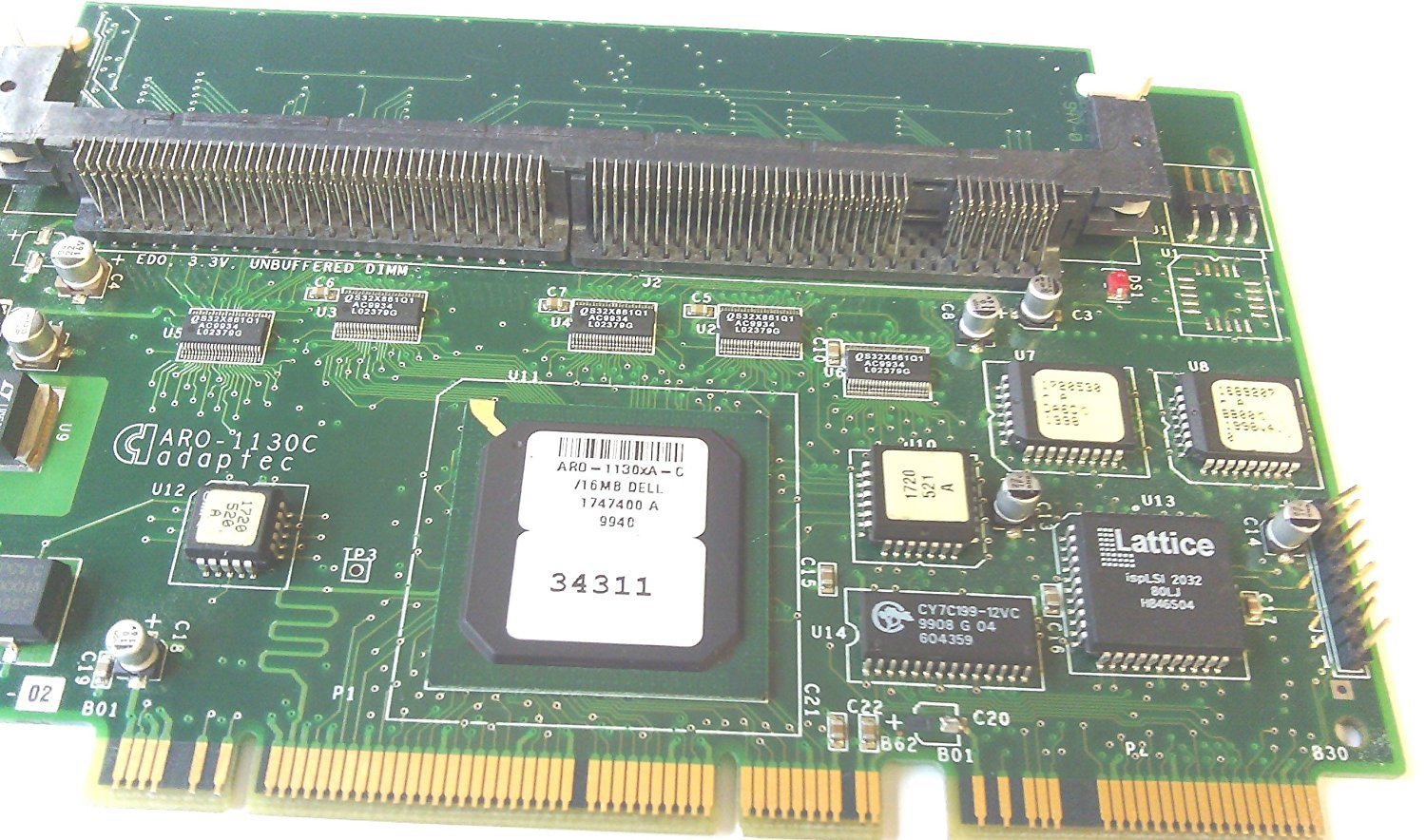 Adaptec ARO-1130xA-C, 16MB, 1747400A, DP/N: 00034311, 64BIT PCI-X SCSI Adapter CARD